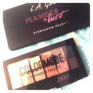 LA Color & LA girl eyeshadow palettes